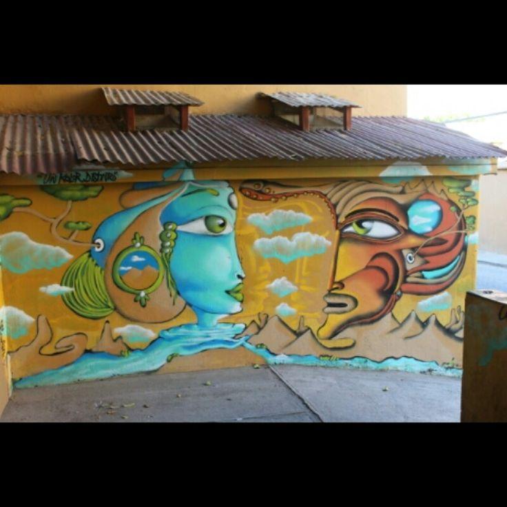 Arte Clejera en Pisco Elqui, Chile.