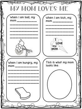 Mother S Day Writing Activities For 1st Grade Mother S Day