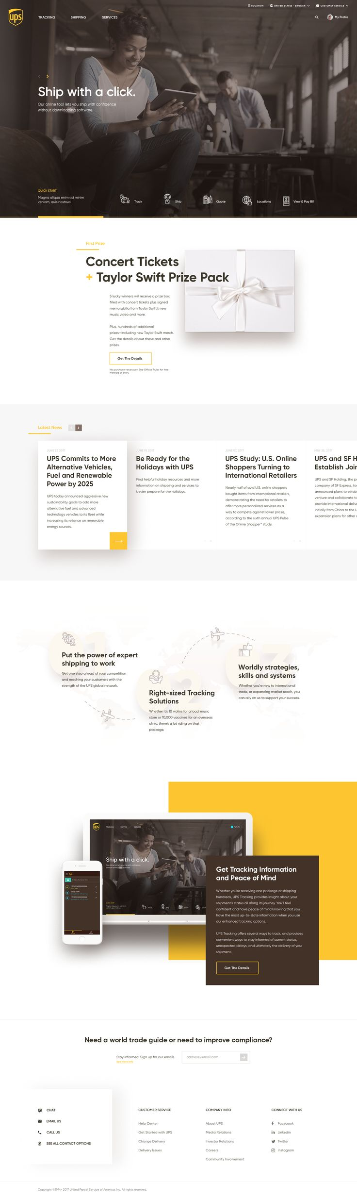 UPS Homepage Redesign - via Behance