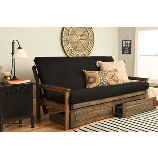 Somette Beli Mont Multi-flex Honey Oak Full-size Wood Futon Frame | Overstock.com Shopping - The Best Deals on Futons