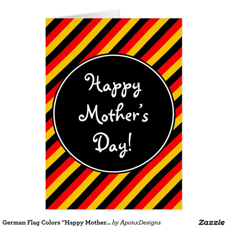 "German Flag Colors ""Happy Mother's Day"" Card"