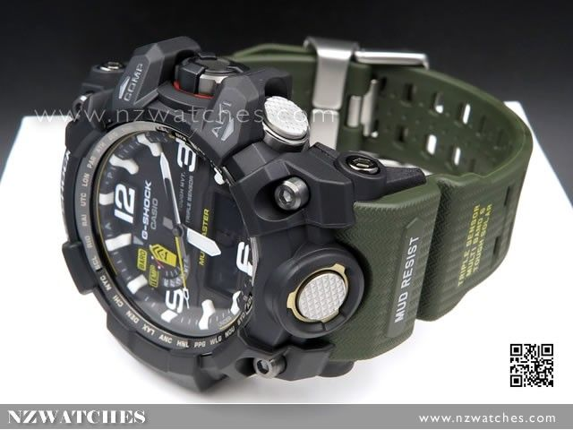 BUY Casio G-Shock MUDMASTER Triple Sensor Solar Multiband 6 Watch GWG-1000-1A3, GWG1000 - Buy Watches Online | CASIO NZ Watches