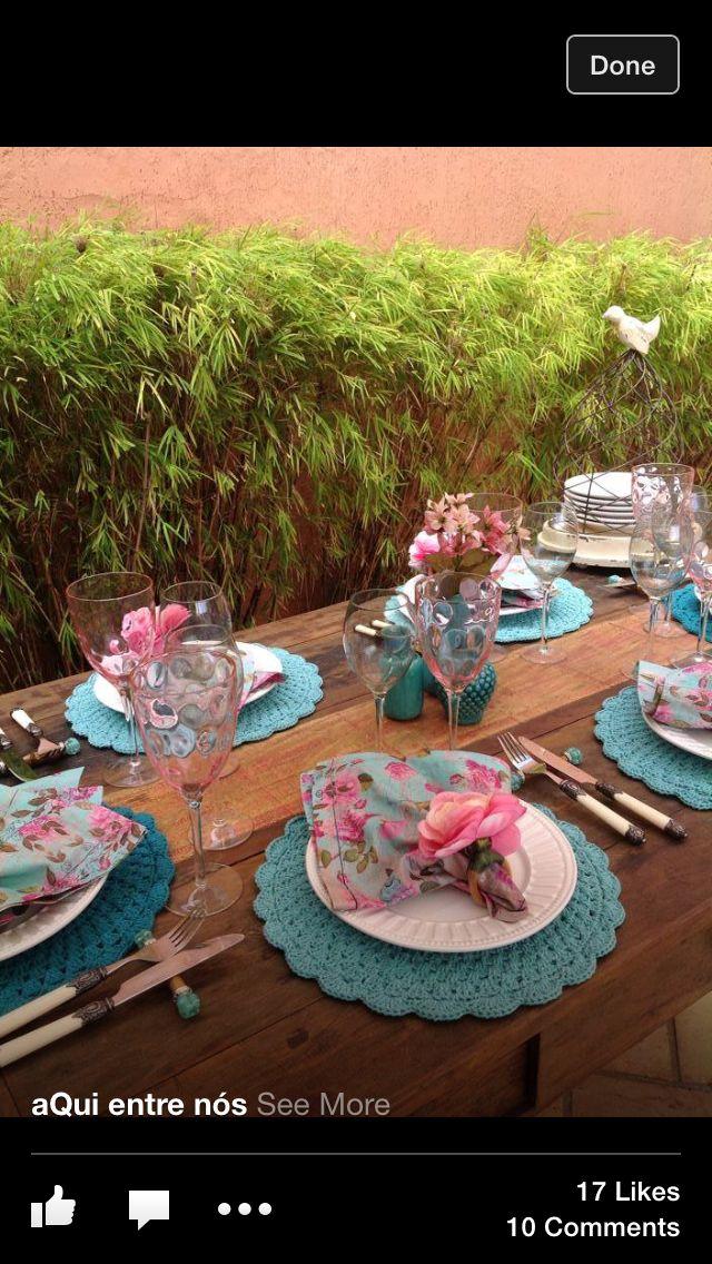 Gosto da combinação das cores azul + rosa (Azul tiffany e rosa).