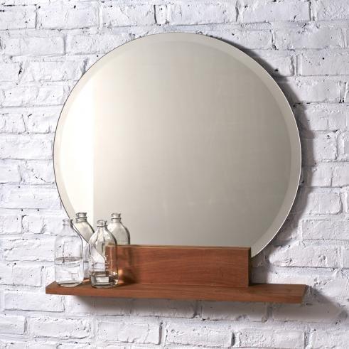 Miroir En Teck Mya Vente Miroirs 75x70 Salle De Bain