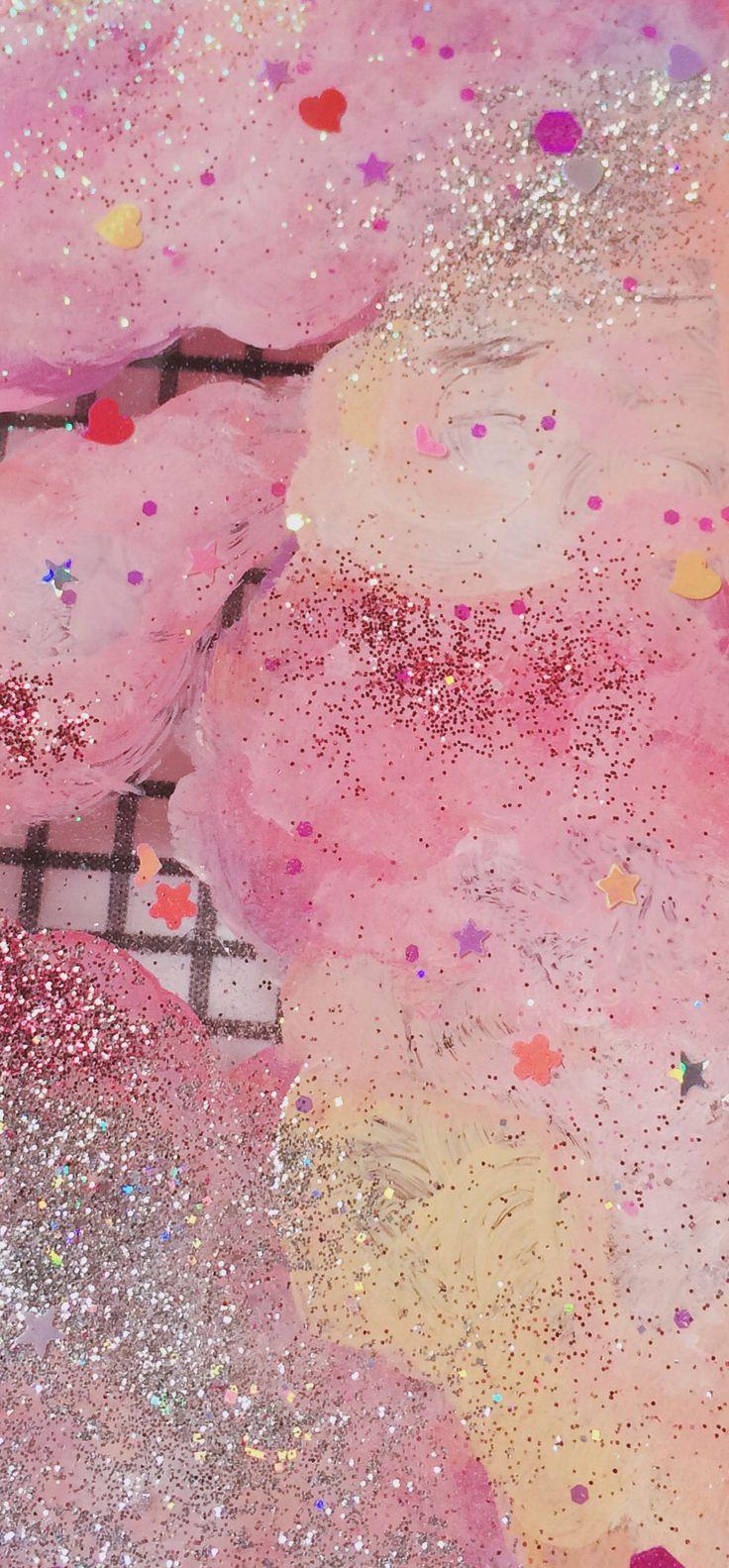Pink Confetti and Glitter Texture