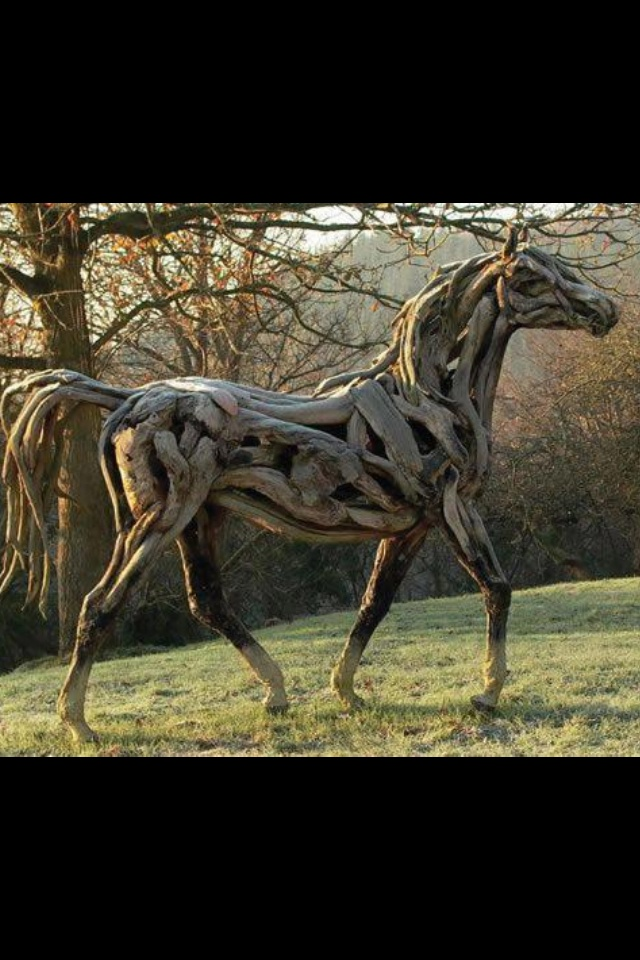 134 best images about driftwood horses on pinterest Driftwood sculptures for garden