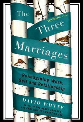 The Three Marriages: Reimagining Work, Self and Relationship by David Whyte, http://www.amazon.com/dp/159448435X/ref=cm_sw_r_pi_dp_G1zDpb08SG3WE