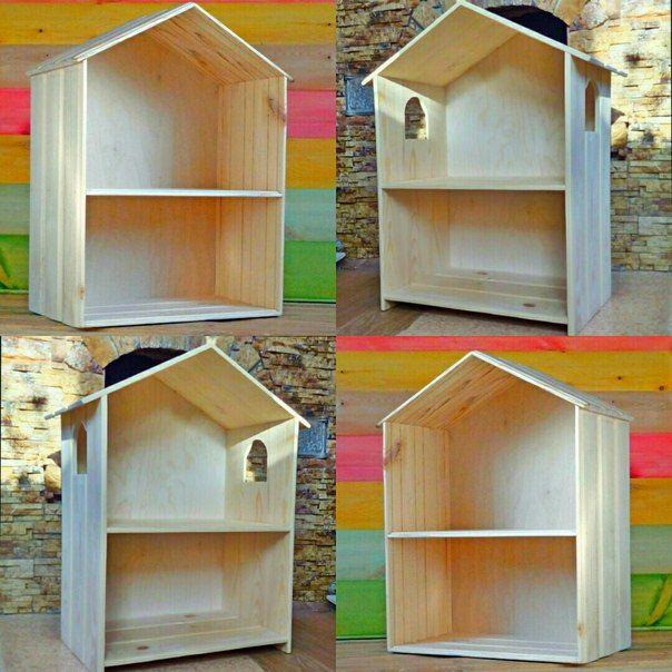 Wood Dolls house shelf. https://vk.com/decordom_tsk