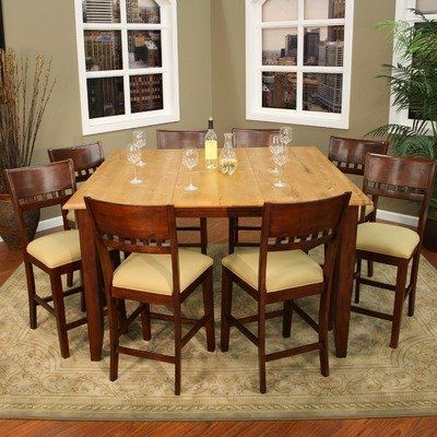 13 best images about home kitchen dining room sets on for Dining room tables 9 piece