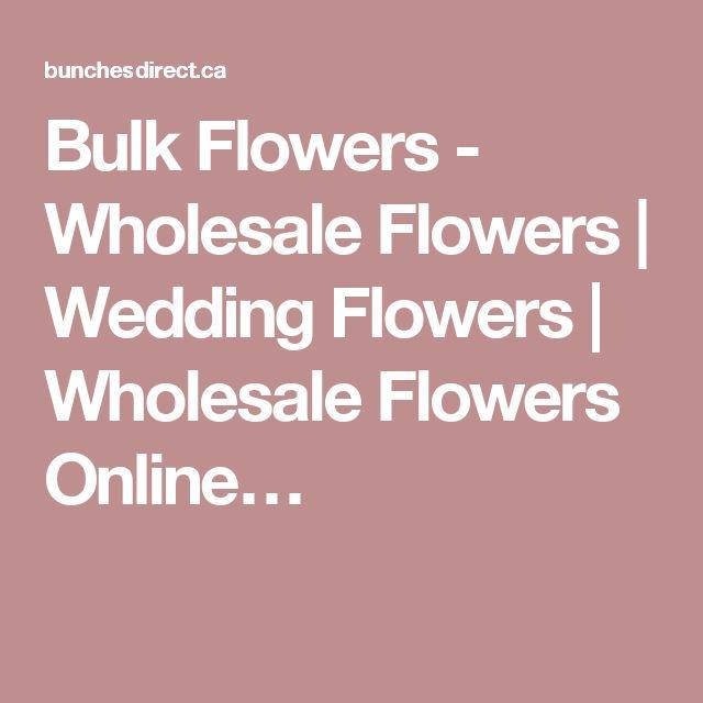 Bulk Flowers - Wholesale Flowers | Wedding Flowers | Wholesale Flowers Online…
