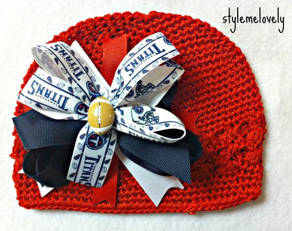 5181bcd45a705 okay...something for Dad too! Tennessee Titans Baby Girl Boutique Bow by