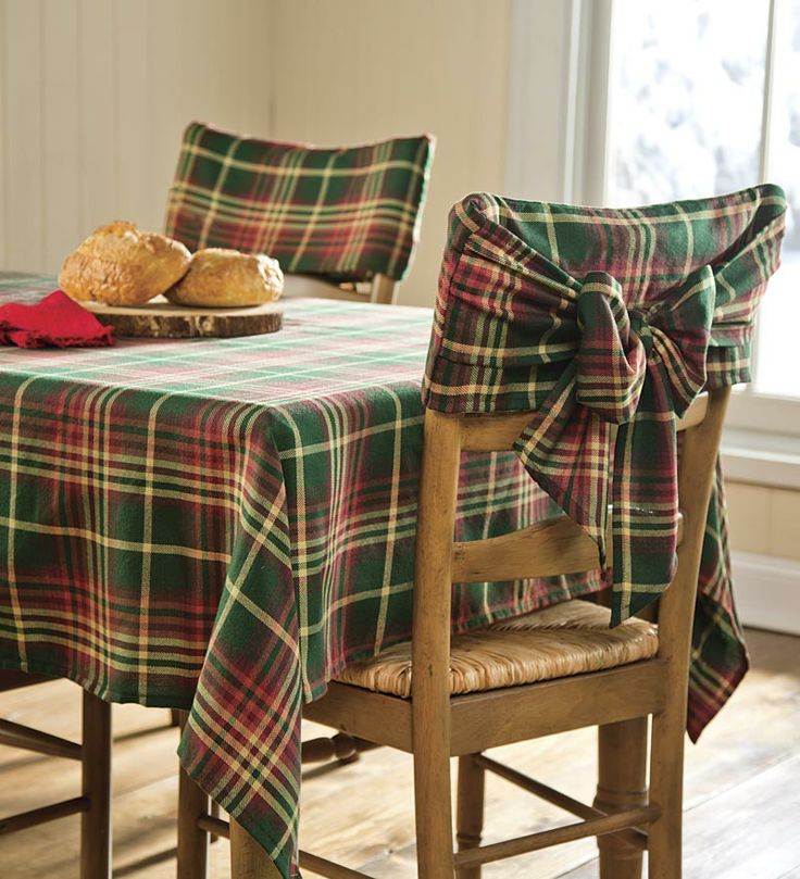 Red Amp Green Plaid Tablecloths Amp Chair Bows Plaid