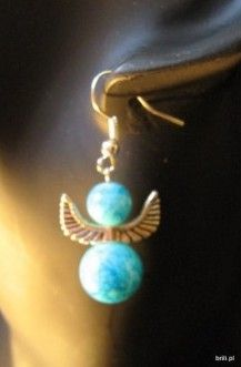 blue angel earings