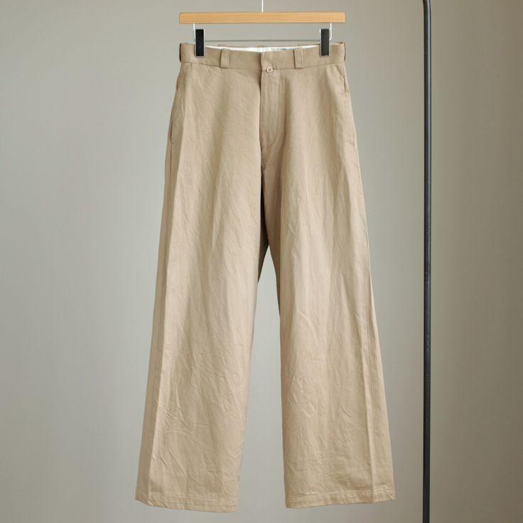 Chino Cloth Pants - wide #khaki