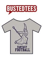 Advertisement for funny fantasy football t-shirt.