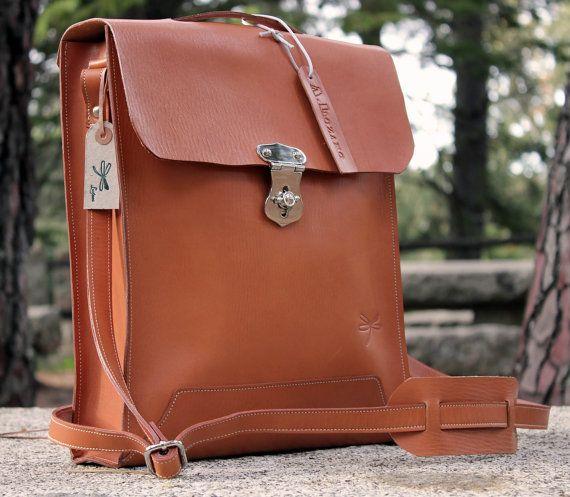 Leather Men Bag  Mens business bag  computer bag  от Ludena