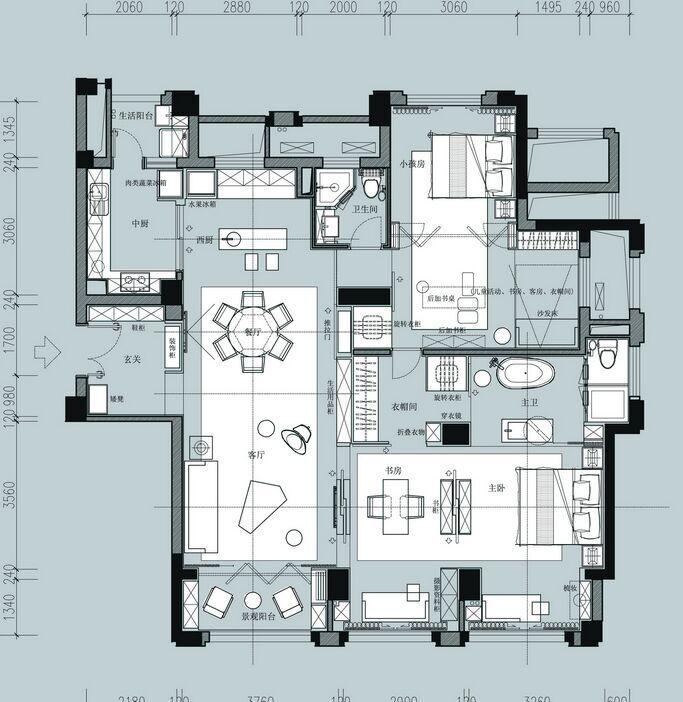 Apartment Floor Plans, Tiny House Plans, House Floor Plans, Apartment  Layout, Architecture Plan, Detail Architecture, Modern House Design, Villa  Design, ...