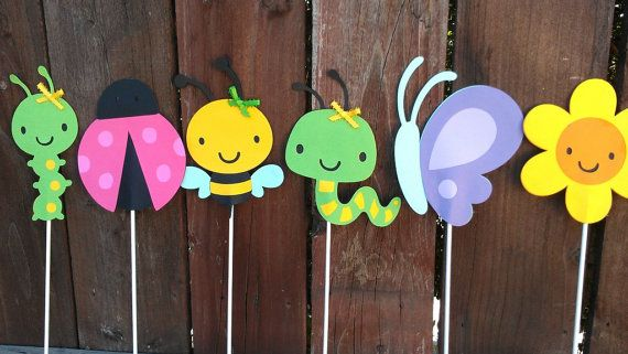 Garden Bug Centerpiece set of 3 by SweetBugABoo on Etsy, $16.00