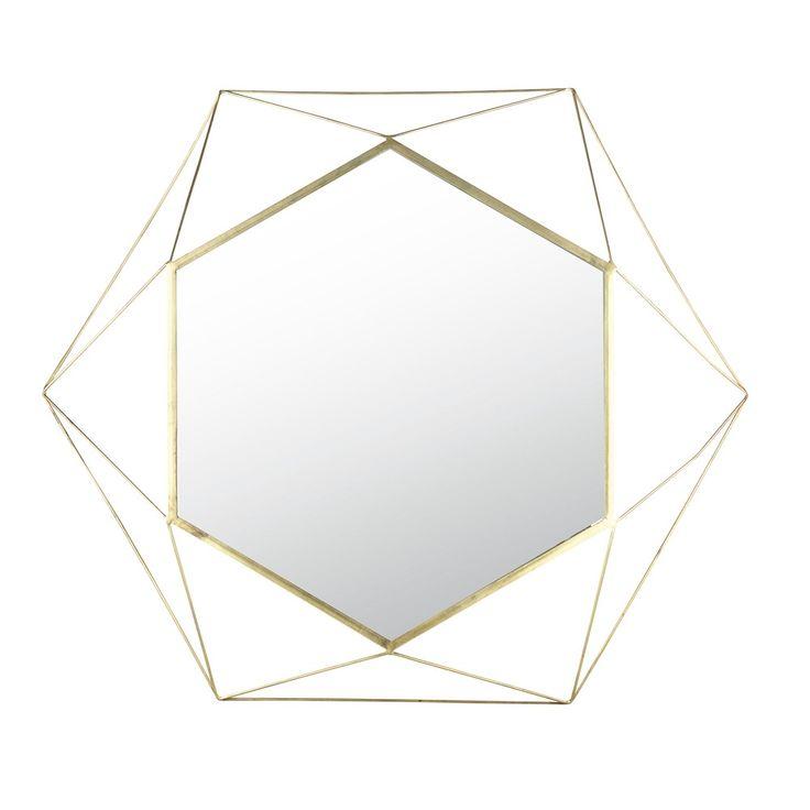 Spiegel mit Rahmen aus goldfarbenem Drahtgeflecht 101x117 | Maisons du Monde