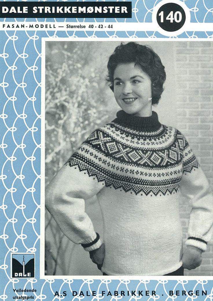 #DaleGarn Free Download Patterns DG140 1956 Setesdal Damegenser med rundt bærestykke.