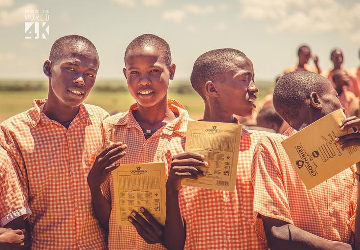 Young students from Kenya are driven towards knowledge.