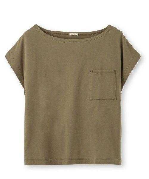 DRESSTERIOR(LADIES)(ドレステリアレディス)のポケット付きプルオーバー(Tシャツ/カットソー)|グリーン