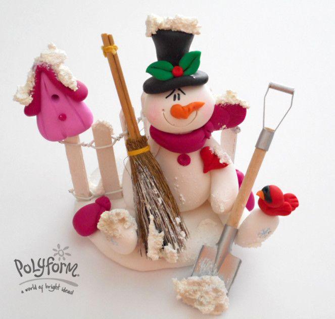 DIY Polymer Clay Snowman