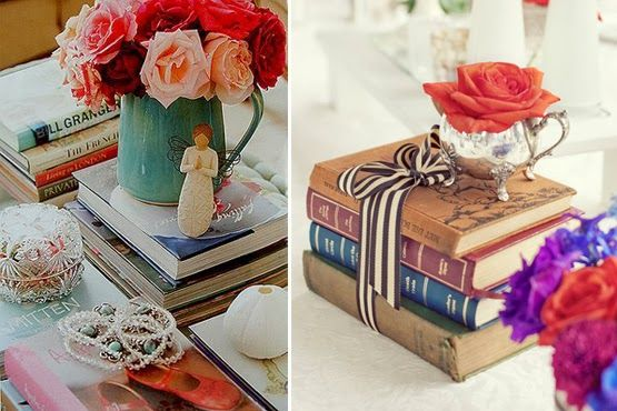As diversas formas de decorar com livros e revistas!