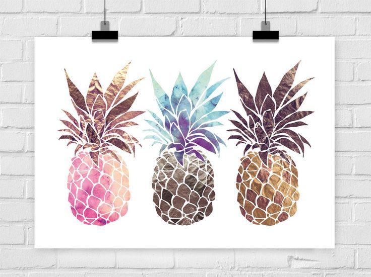 "#ananas fine-art print ""PINEAPPLE TRIO"""