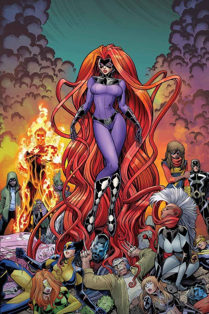Medusa has beaten the X-Men..? Well, the Inhumans have.... I like Medusa but I bet the xmen will kick her ass after this.