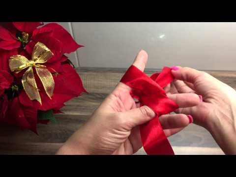 DIY Schleife binden, basteln für Weihnachten, Geburtstag oder als Deko