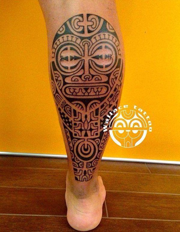 Marquesan Tree Frog Tattoo Design