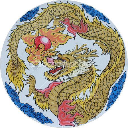 Drago cinese tradizionale — Immagini Stock #6440895