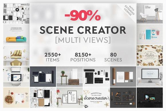 90% OFF - Scene Creator Bundle by Qeaql on @creativemarket