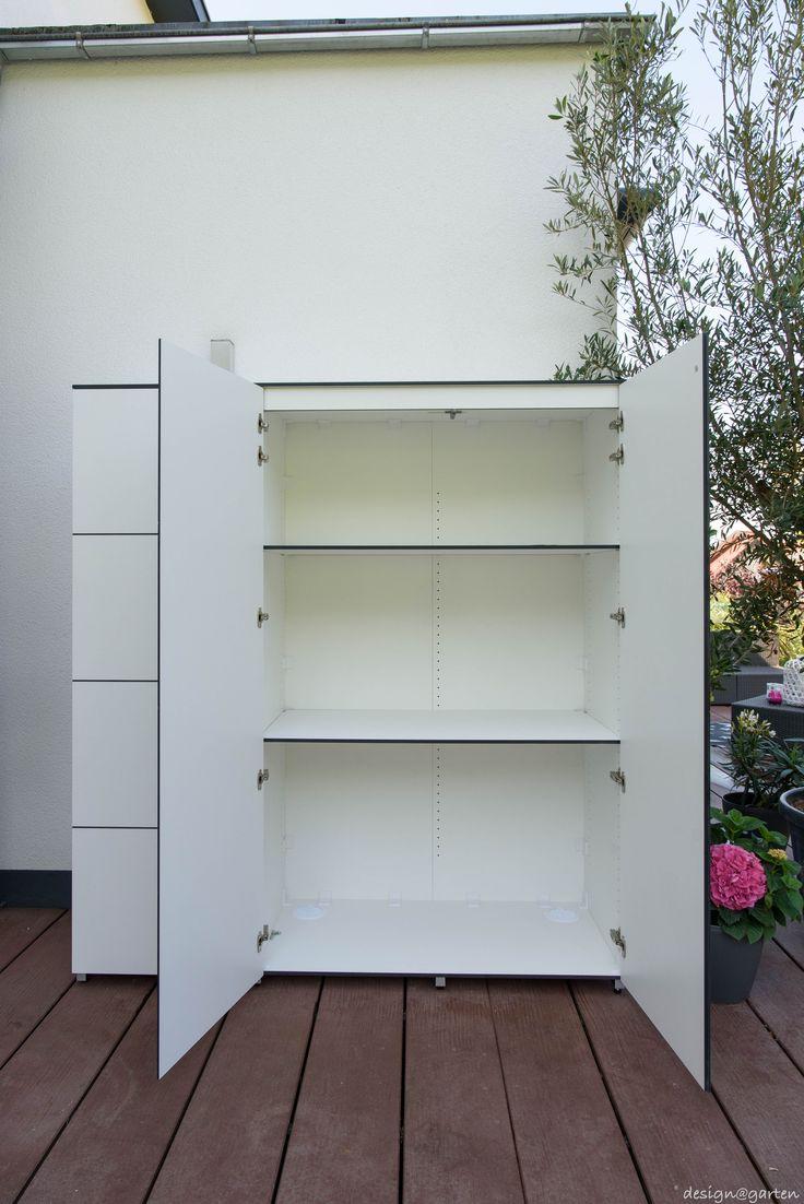 Balkonschrank | Terrassenschrank | Hochschrank @_win By Design@garten    Augsburg. Farbe: