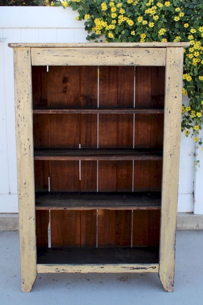 Rare aafa early antique folk art bucket bench cabinet cupboard crock  original - 410 Best Peg Racks, Shelves And Cupboards Images On Pinterest