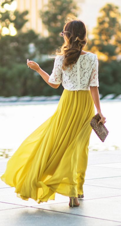 Bright colors + lace for spring