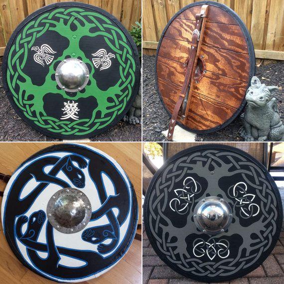 Viking Shield Medieval Reenactment Larp by IGNITEDArtsDesign