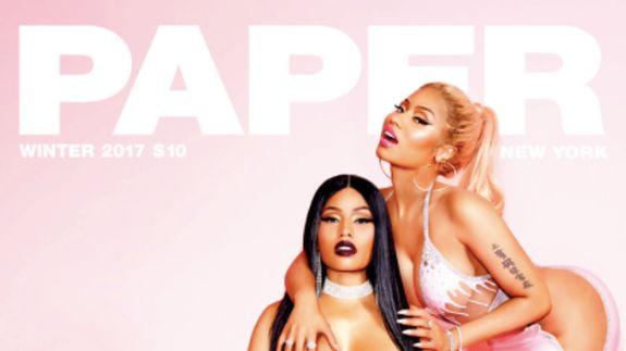 Nicki Minaj tries to topple Kim Kardashian with racy #breaktheinternet Paper cover