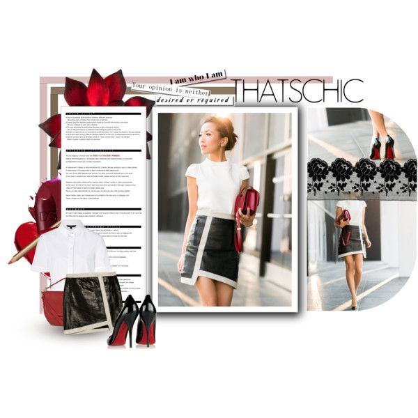 Blogger Style: that chic by theroyalcrime on Polyvore featuring moda, Tara Jarmon, Helmut Lang, Christian Louboutin, Mulberry, red flower, Arche, BloggerStyle, NYC and Louboutin