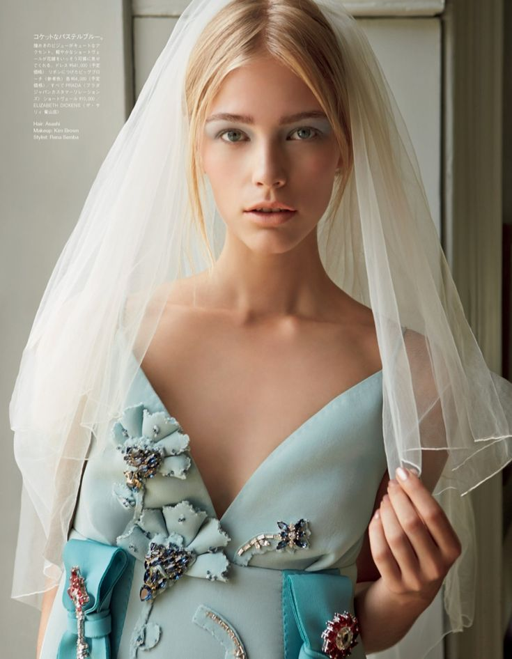 Nicole Nodland for Vogue Japan 's December Wedding special 2015.