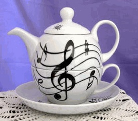 Lovely...tea and music