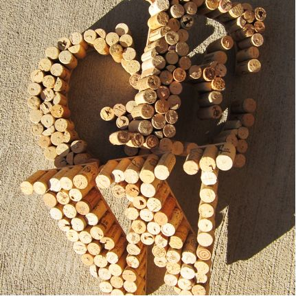 """this site claims """"100 things to do with wine corks"""". i have only read a few but those are very cute and easy: Monograms Letters, Crafts Ideas, Wine Cork Letters, Crafty, Wine Corks Crafts, Wine Corks Letters, Corks Monograms, Diy, Corks Projects"""