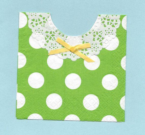 Set of 30 Napkins...Sweet Lemon Lime Green Polka by SuriesBoutique, $15.00