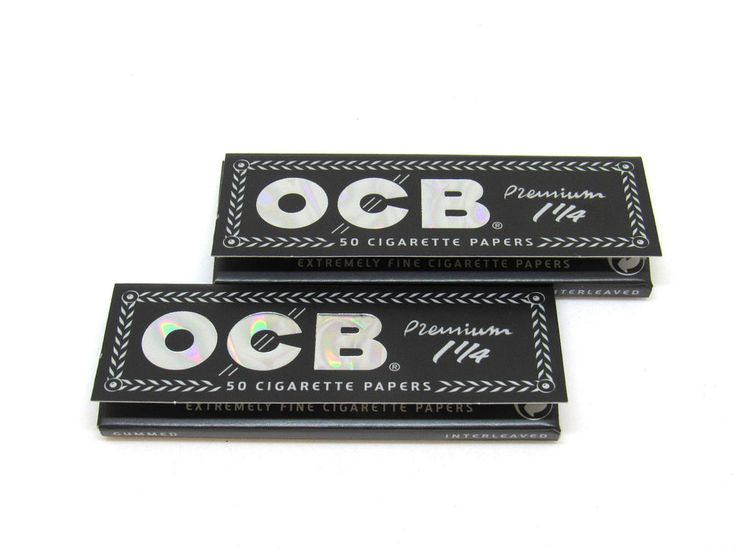 OCB Rolling Papers Premium 1 1/4 - 2 Packs - Finest Quality- 50 Papers EA - USA
