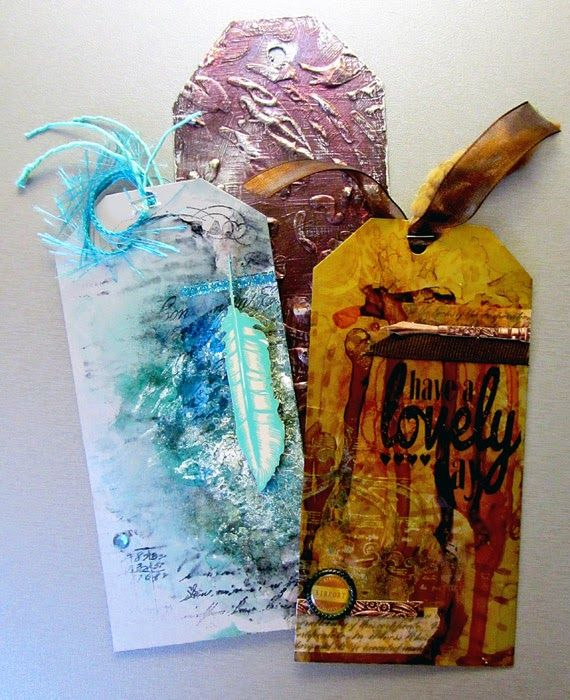 tags with alcohol ink  http://borsmustar.blogspot.hu/2014/07/mindenfele-maszatolas.html