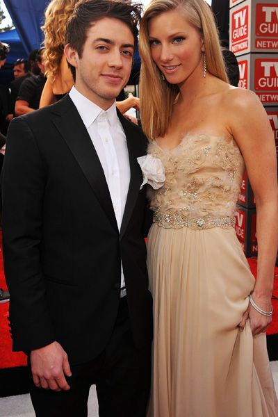 OMG, look everybody, it's Artie from Glee.... Kevin McHale. and of course Britanny...Heather Morris