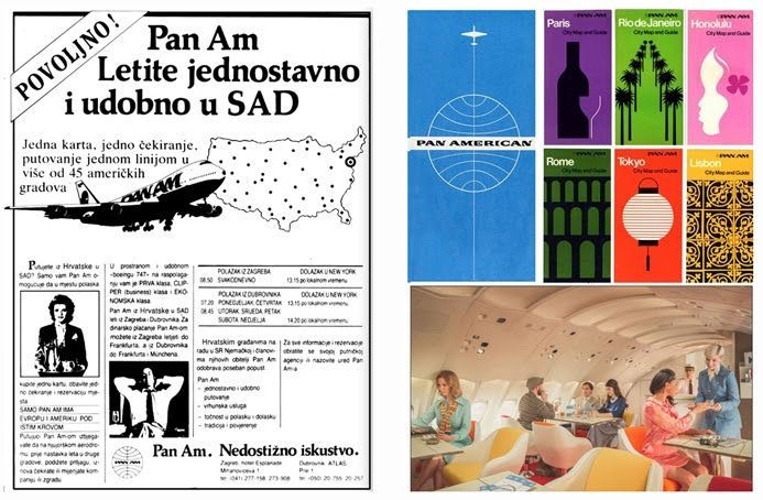 Advertisements For Famous Pan Am Airlines Pan American World Airways First Direct Commercial Line Zagre Advertising Material Advertising Agency Advertising
