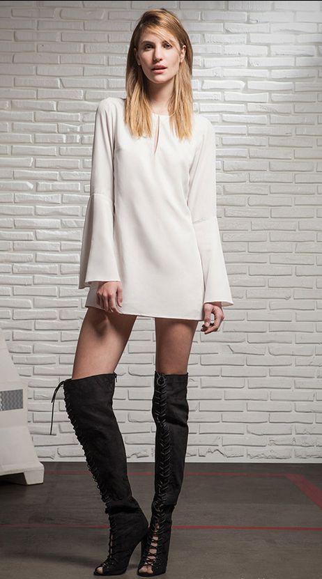 5 estilos diferentes de vestidos para usar con un mismo calzado | Vestidos Glam
