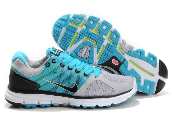 product image; Mens Nike Lunarglide 2 Wolf Grey/Black/Chlorine Blue/Pure  Platinum #Grey